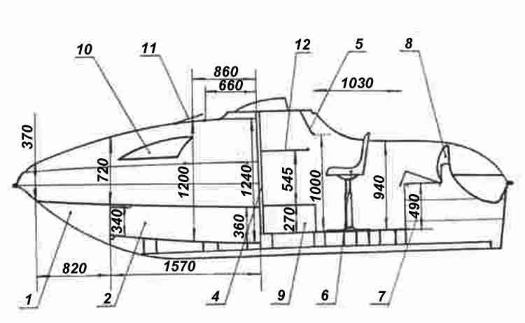 схема алюминиевой лодки