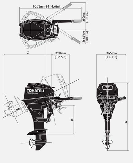 габарит лодочного мотора