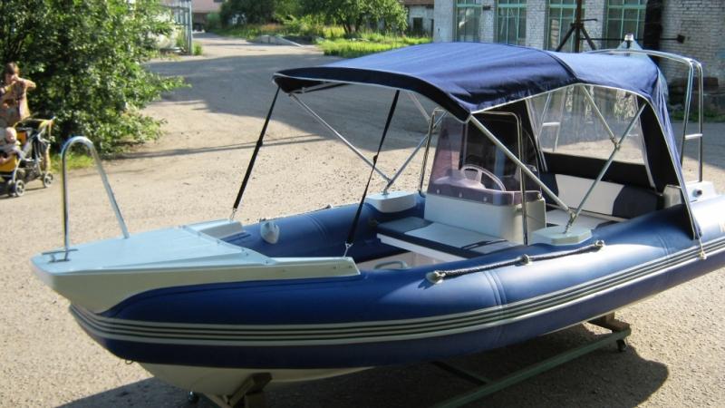 управление лодкой пвх с тентом