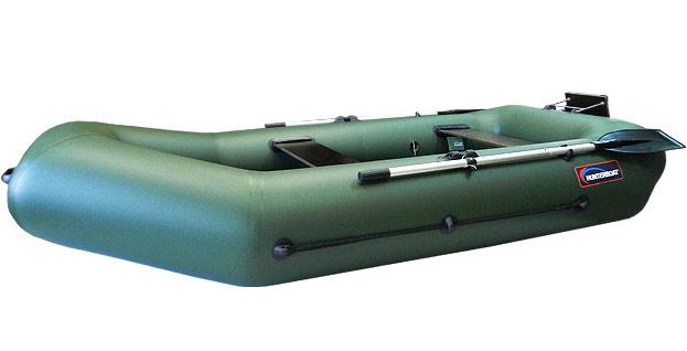 лодка хантер с встроенным транцем