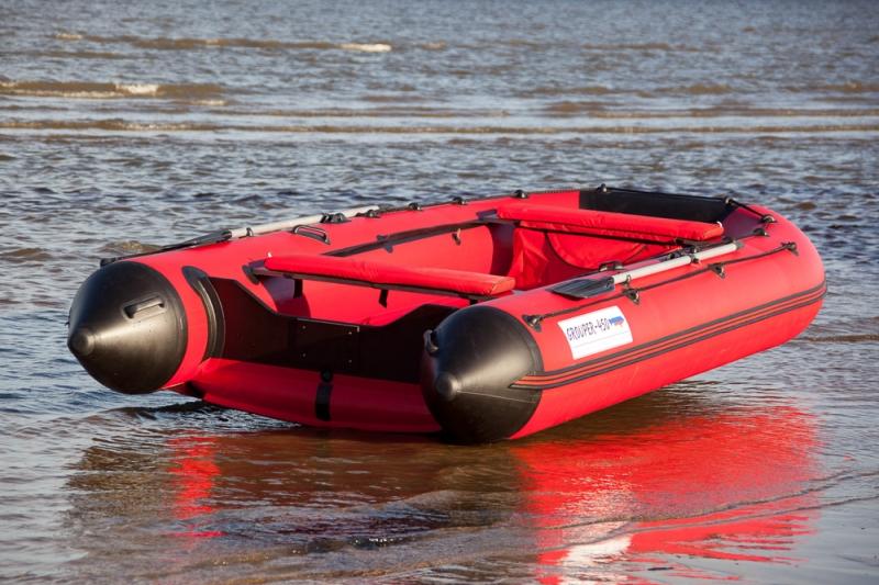 лодка пвх с надувным дном групер