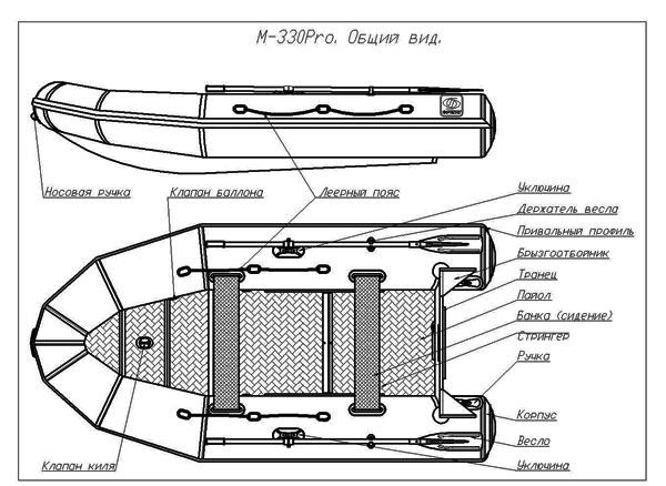 чертеж выносного транца для лодки пвх