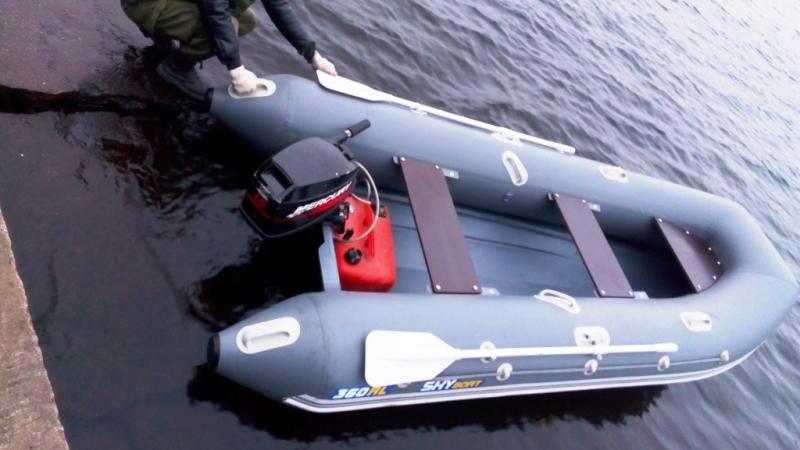 лодка риб скайбот 360 видео